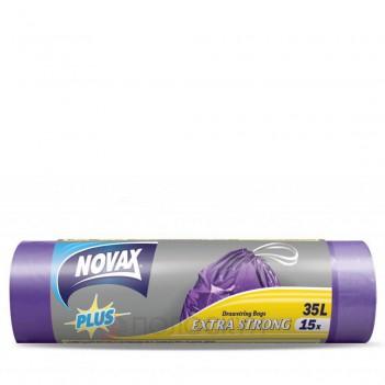 Пакет для сміття 35л Novax