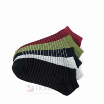 Шкарпетки чоловічі №402 Спорт короткі Білі або чорні 27р Нова Лінія