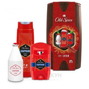 Подарунковий набір Бочечка для чоловіків Captain Wooden Old Spice