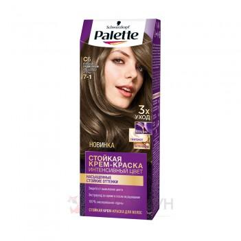 Фарба для волосся C6 (7-1) Холодний середньо-русявий Palette