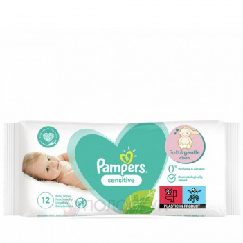 Вологі серветки New Baby Sensitive Pampers