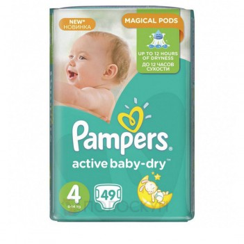 Підгузки дитячі Active Baby-Dry N4  Pampers