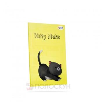 Блокнот Kitty note B6 yellow ТМ Profiplan
