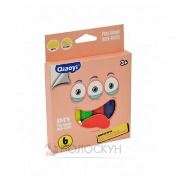 Пластилін для моделювання 6 кольорів Qiaoyi