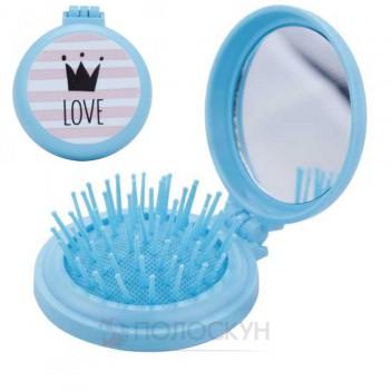 Дитяча щітка для волосся складна з дзеркалом СН3107 Rapira