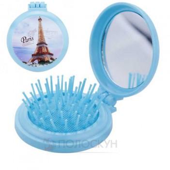 Дитяча щітка для волосся складна з дзеркалом СН3108 Rapira