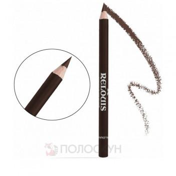 Олівець для брів з щіточкою №01 Коричневий Relouis