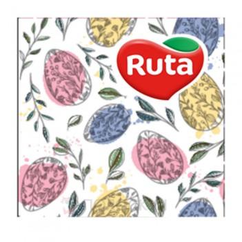 Серветки до столу 33х33 Тришарові Писанки Ruta