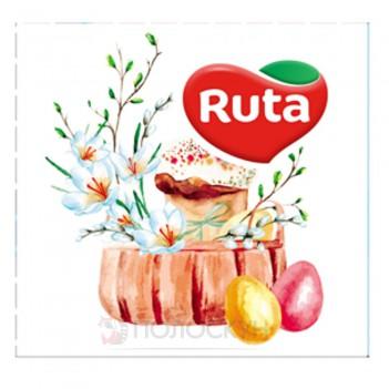 Серветки до столу 33х33 Тришарові Великодній натюрморт Ruta
