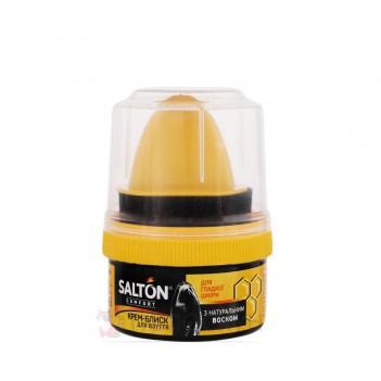 Крем-блиск з аплікатором для взуття для гладкої шкіри Salton