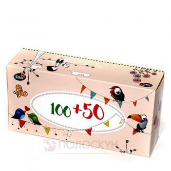 Дитячі косметичні серветки в коробці двошарові Silken