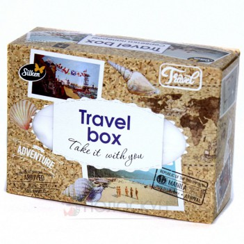 Серветки гігієнічні Сухі Travel Box двошарові Silken