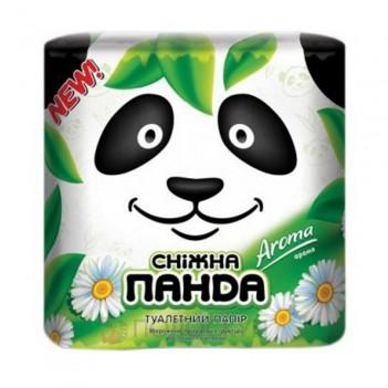 Туалетний папір Aroma двошарова Сніжна панда