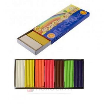 Пластилін 7  кольорів з натуральним воском Тетрада