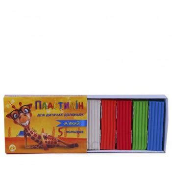 Пластилін М'який 5 кольорів Тетрада