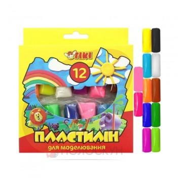 Пластилін для моделювання 12 кольорів TIKI