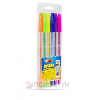 Ручка кулькова 6 кольорів TIKI