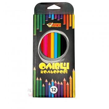 Кольорові олівці 12 кольорів TIKI