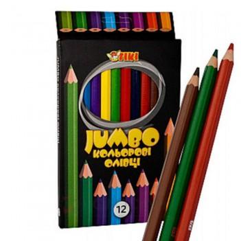 Кольорові олівці Jumbo TIKI