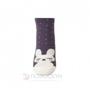 Дитячі бузкові шкарпетки з зайчиками 10-12р V&T