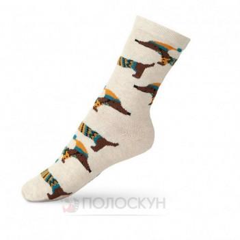 Дитячі шкарпетки з таксами 22-24р V&T