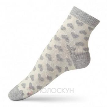Жіночі шкарпетки з сірими сердечками 23-25р V&T