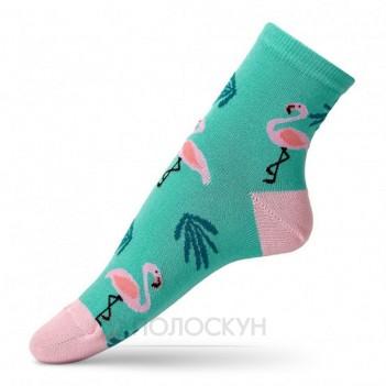 Жіночі шкарпетки з фламінго 23-25р V&T