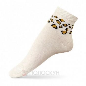 Шкарпетки дитячі Молочний меланж Леопард 10-12р V&T