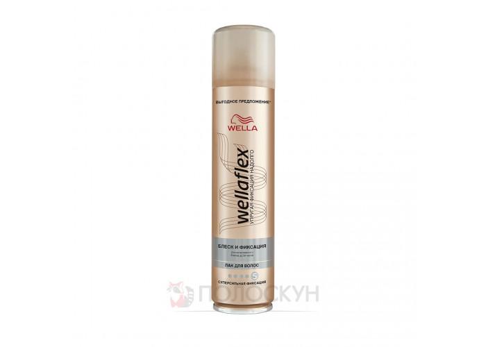 Лак для волосся Блиск та фіксація Wellaflex