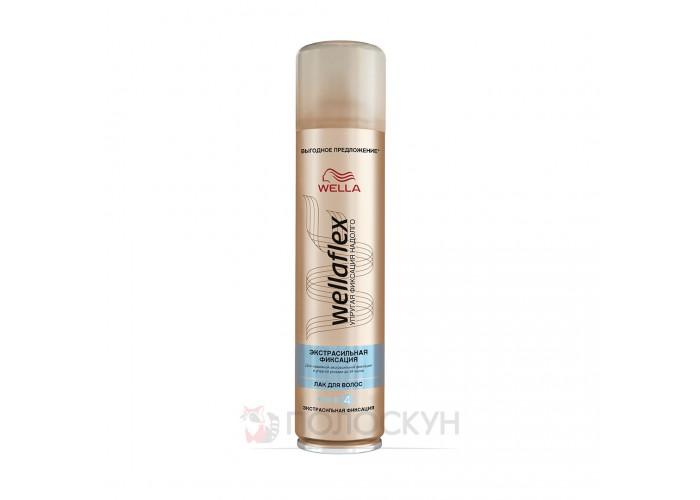 Лак для волосся Екстра-сильна фіксація Wellaflex