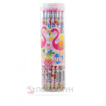 Олівець графітний з гумкою Flamingo YES