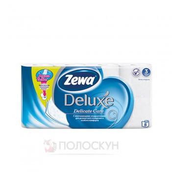 Туалетний папір Deluxe для чутливої шкіри білий Zewa