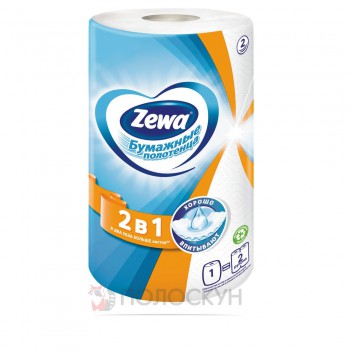 Паперовий рушник білий Zewa
