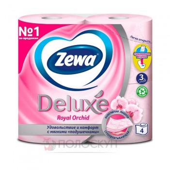 Туалетний папір Deluxe Орхідея Рожевий Zewa