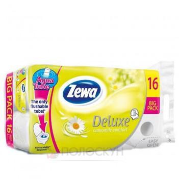 Туалетний папір 3-х шаровий Deluxe Ромашка Zewa