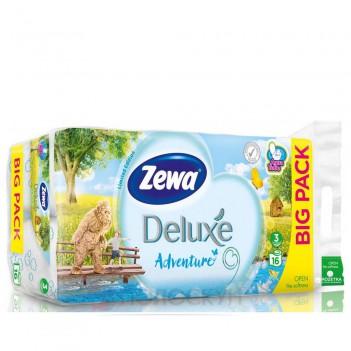 Туалетний папір 3-х шаровий Deluxe Тропік Zewa