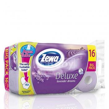 Туалетний папір 3-х шаровий Deluxe Лаванда Zewa