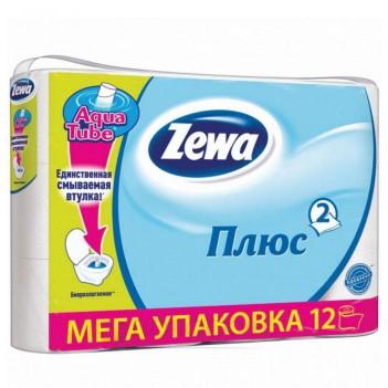 Туалетний папір 2-х шаровий Білий Zewa