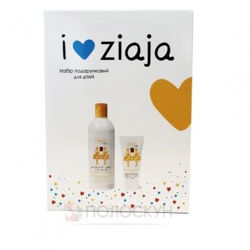 Набір подарунковий для дітей шампун-гель для душа 400мл та зубна паста 50мл Ziaja