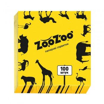 Серветки до столу одношарові 240х230 Жовті ZooZoo