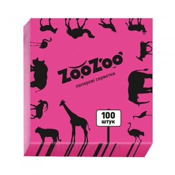 Серветки до столу одношарові 240х230 Рожеві ZooZoo