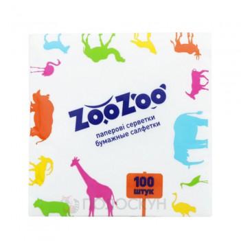 Серветки до столу Білі 24х23см одношарові ZooZoo